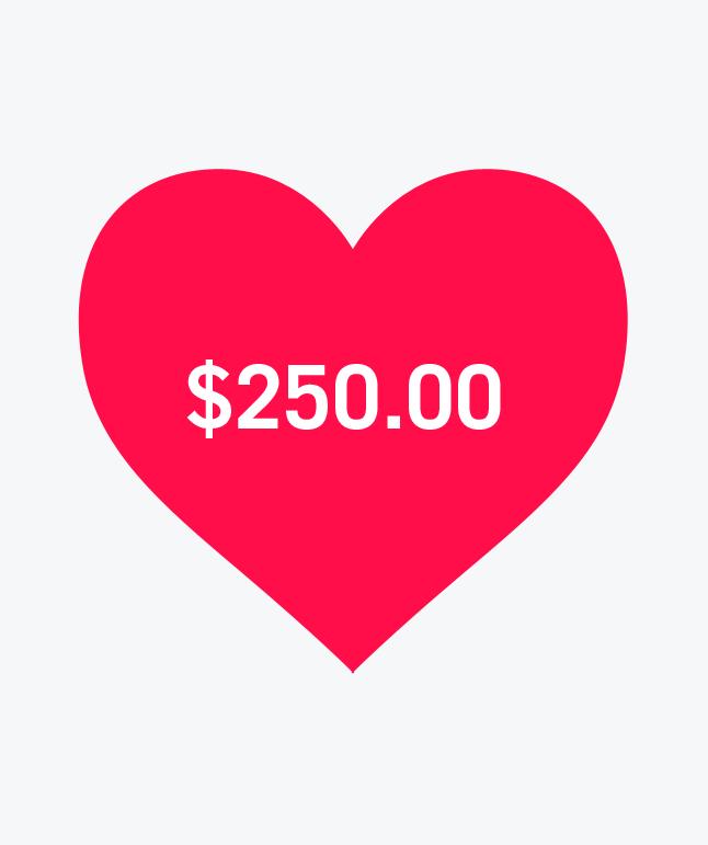 $250 Deposit