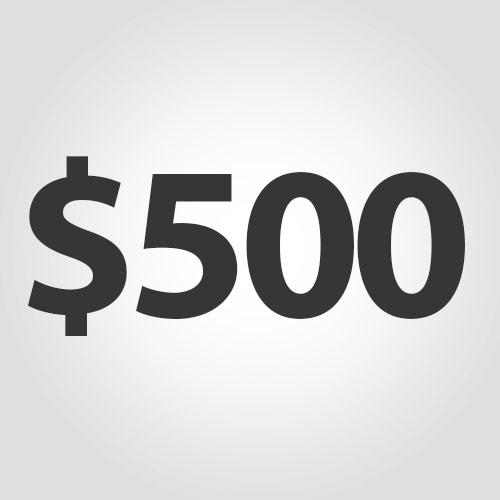 $500 Deposit